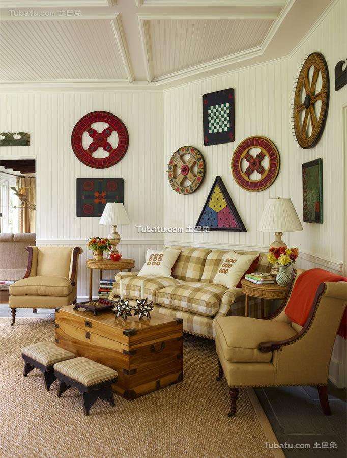 东西方结合四居室背景墙效果图