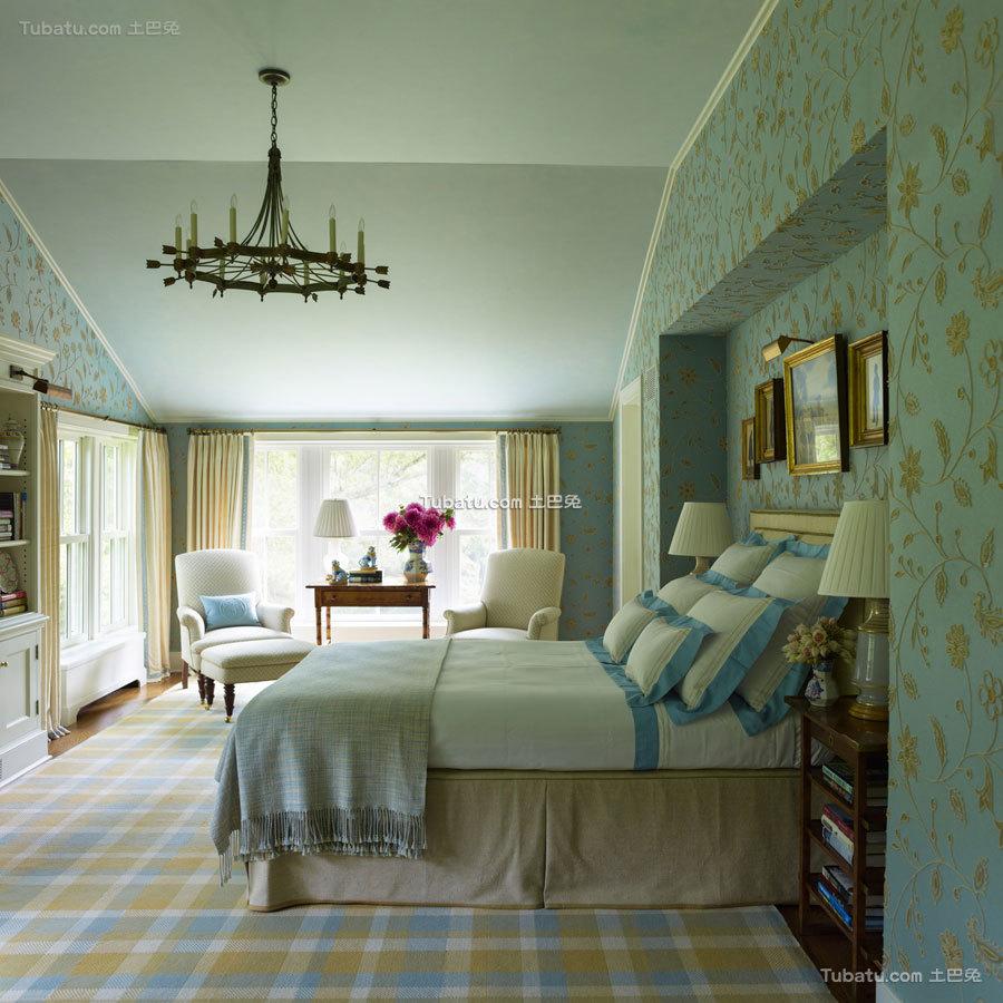 东西方结合四居室卧室图