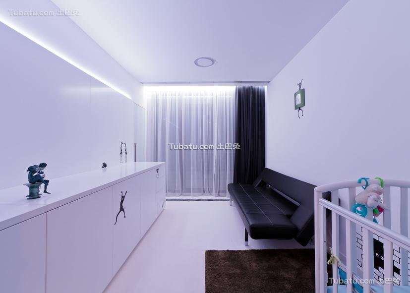 现代一居室家装书房效果图