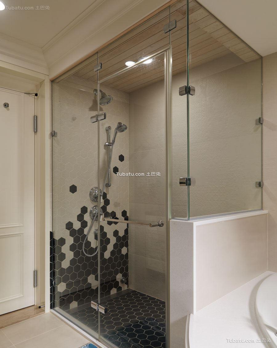新潮三居室家装卫生间效果图