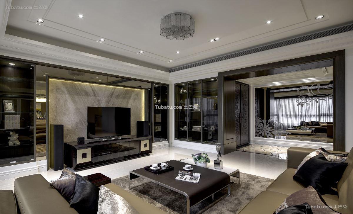 精致的欧式风格家装电视背景墙效果图