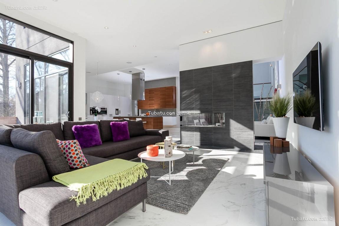 高雅复式家装客厅效果图
