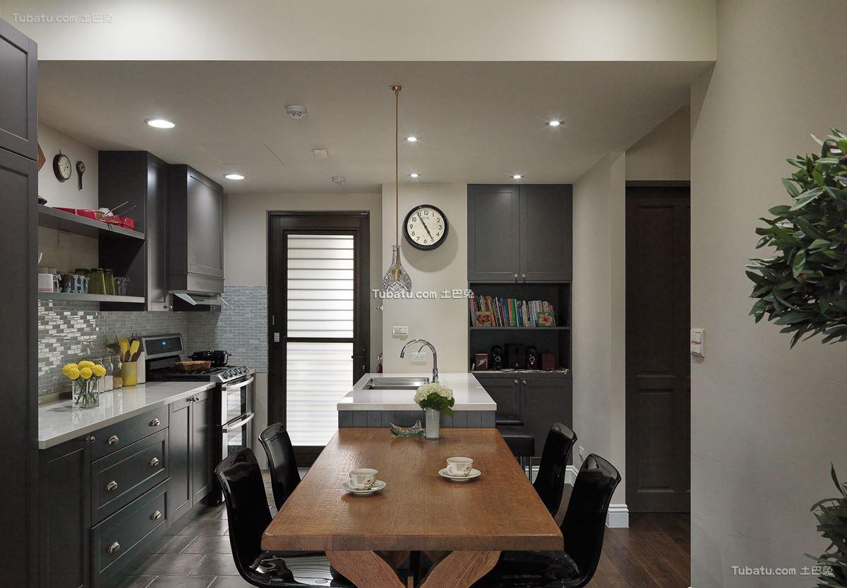 时尚美式二居室家装餐厅效果图