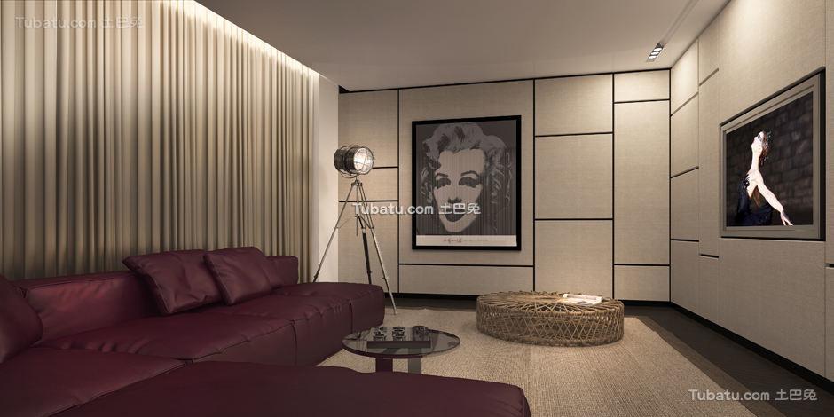 现代别墅家装休闲区效果图