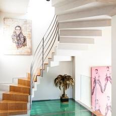 豪华别墅的美式家装楼梯效果图