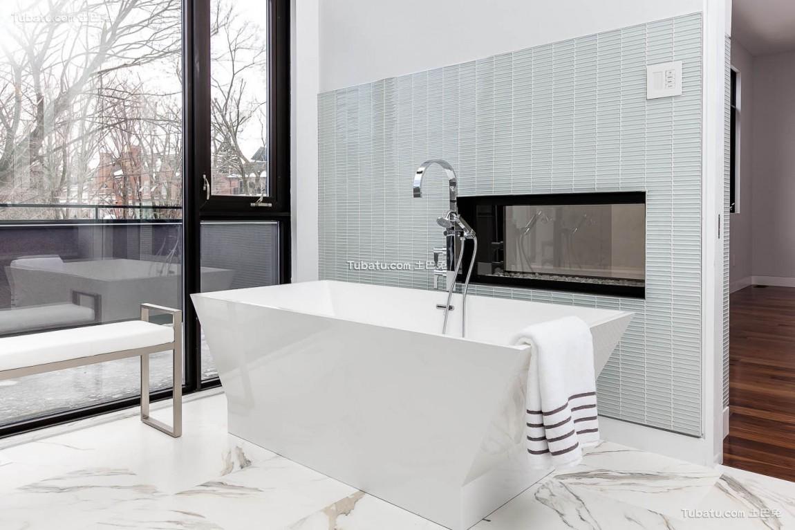 高雅复式家装卫生间效果图
