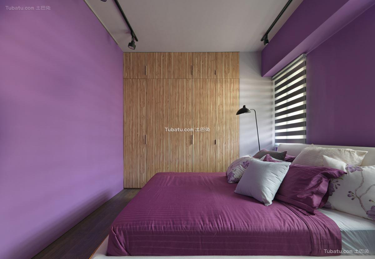 美式混搭四居室家装卧室效果图