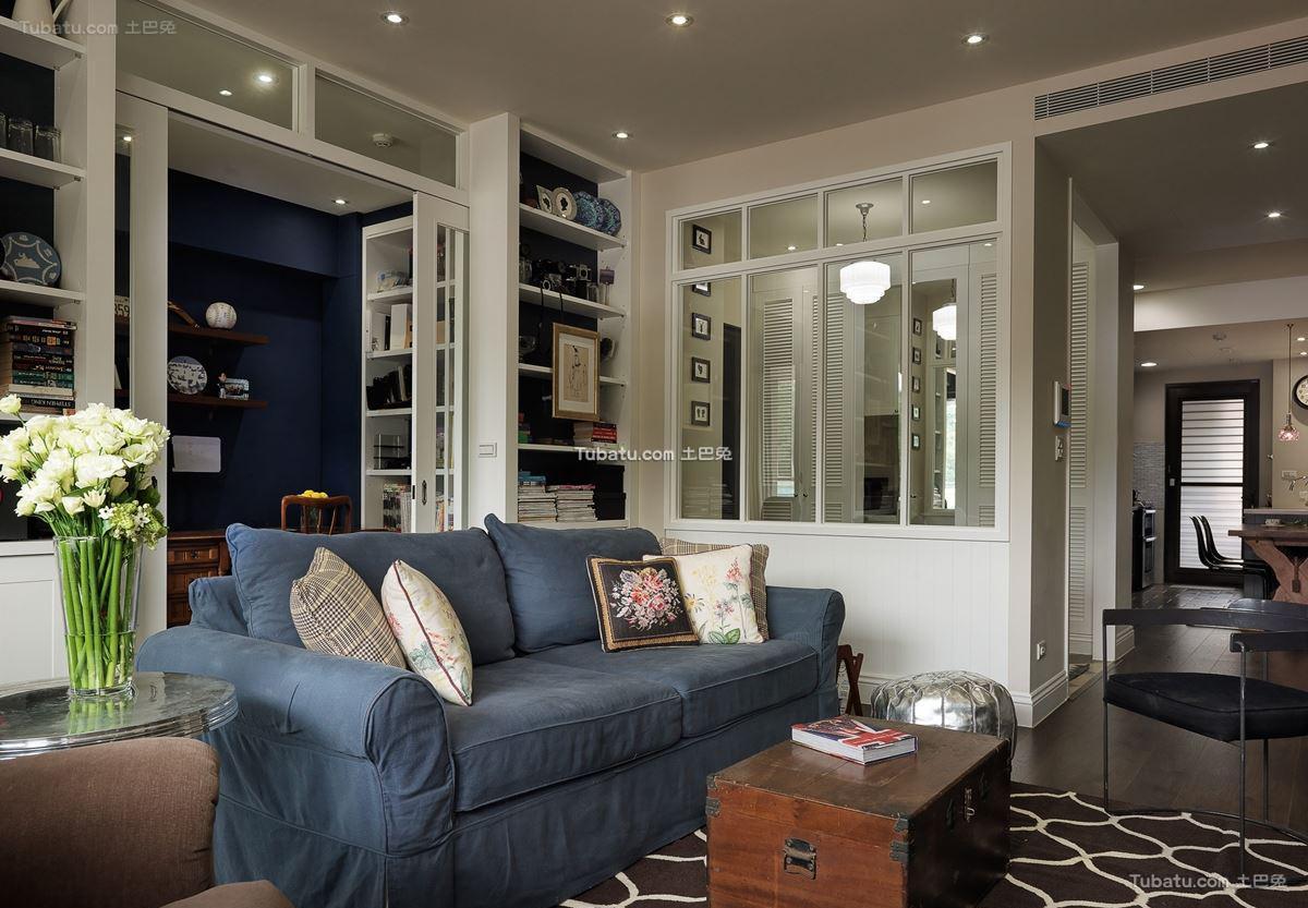 时尚美式二居室家装客厅图