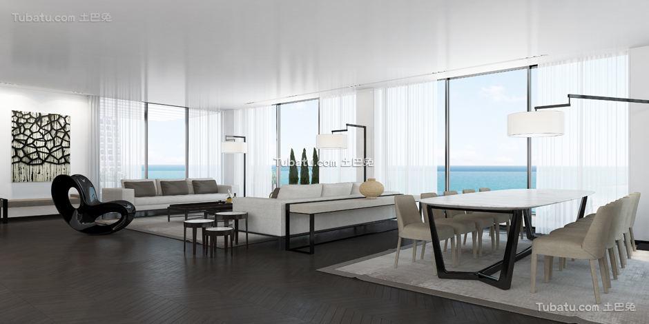 现代别墅家装客厅图