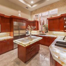 优雅欧式家装厨房效果图