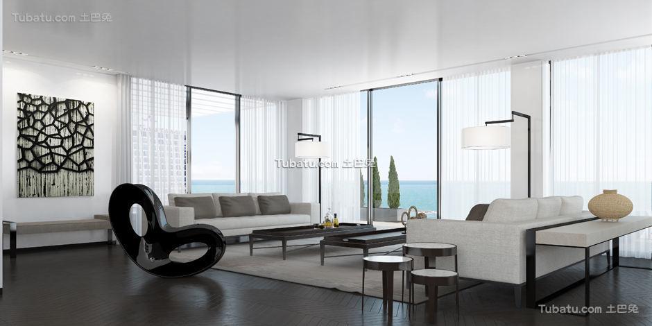 现代别墅家装客厅设计图