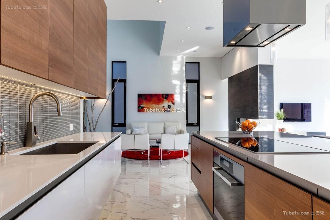 高雅复式家装厨房效果图