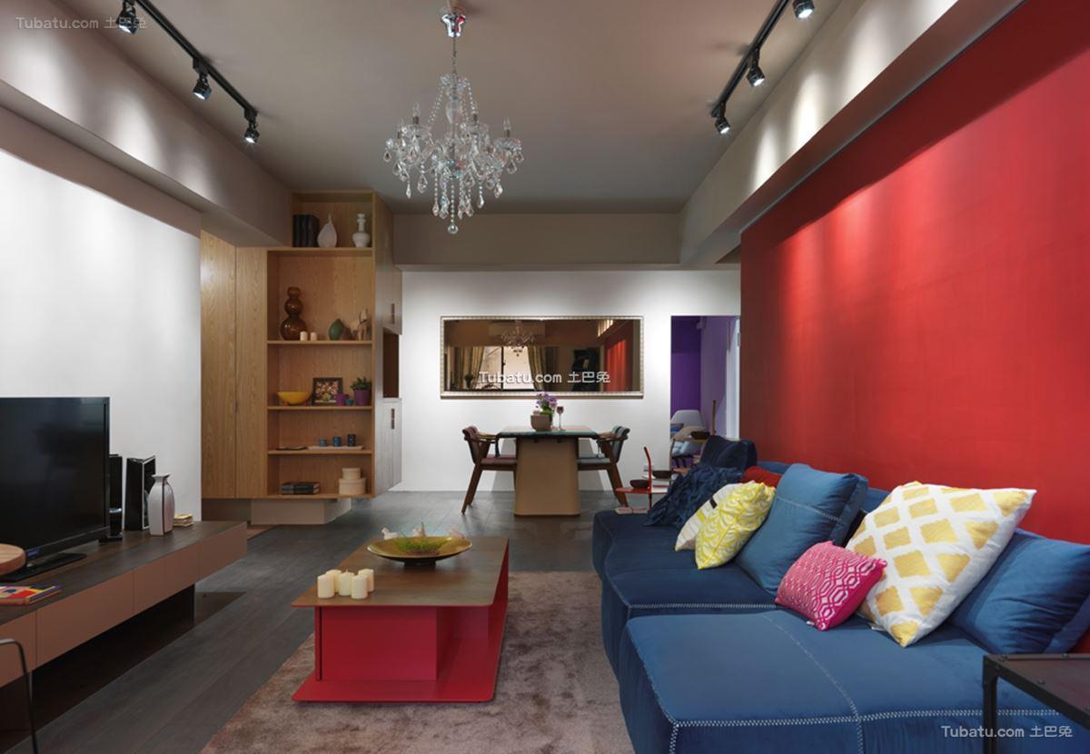 美式混搭四居室家装背景墙效果图