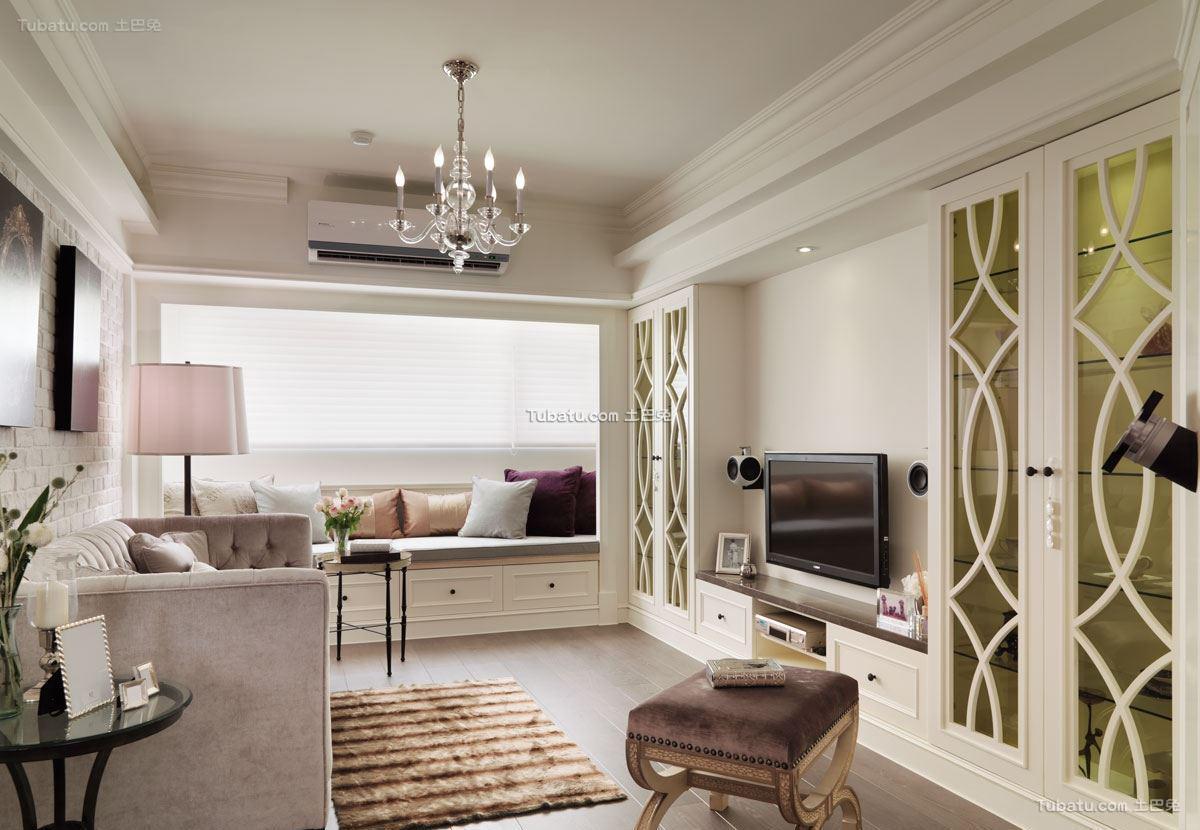 清爽一居室家装客厅效果图
