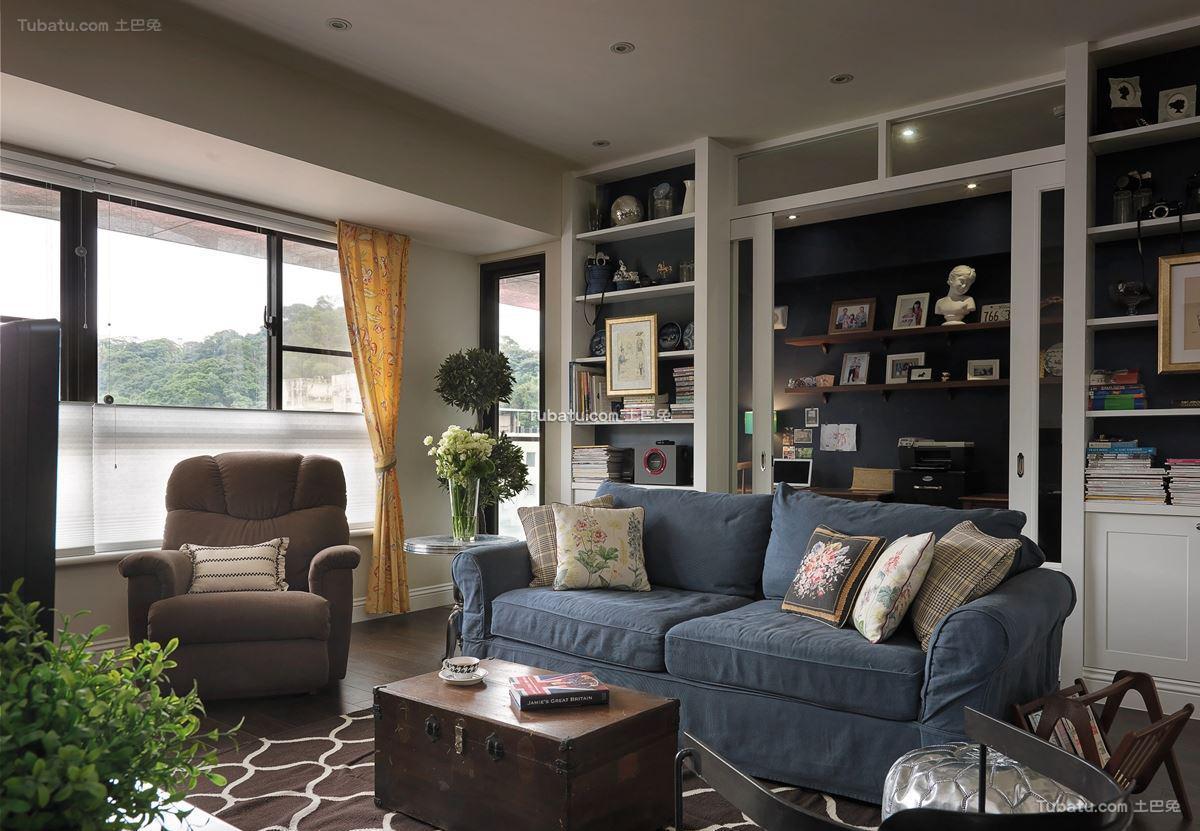 时尚美式二居室家装效果图