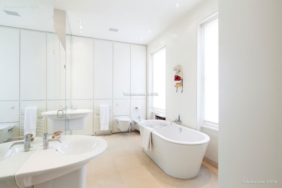 豪华别墅的美式家装卫生间效果图