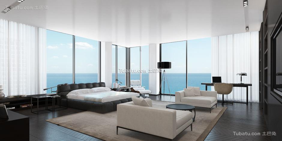 现代别墅家装窗户效果图