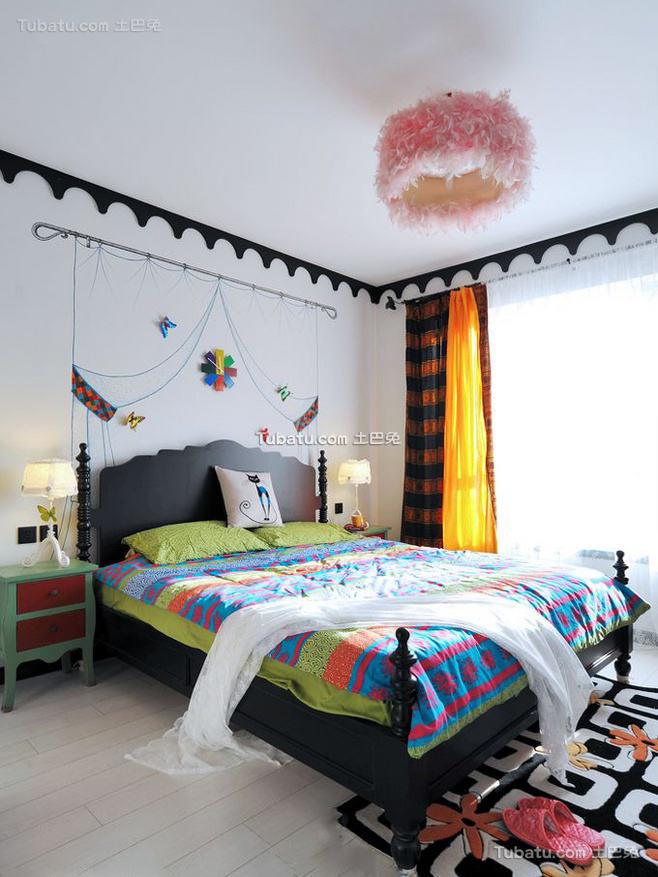 清新地中海风格家装卧室效果图