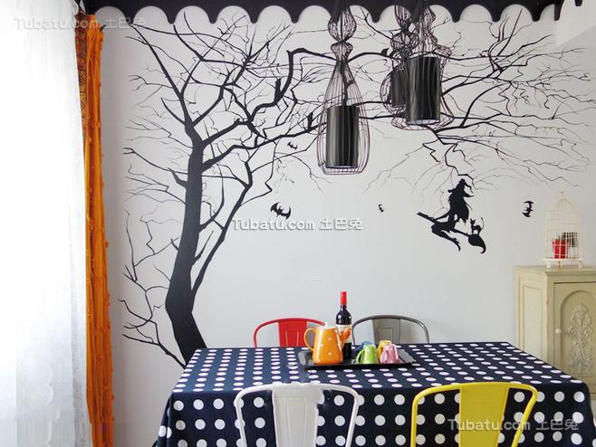 清新地中海风格家装背景墙效果图