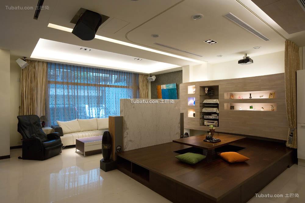 简单复式家装客厅效果图