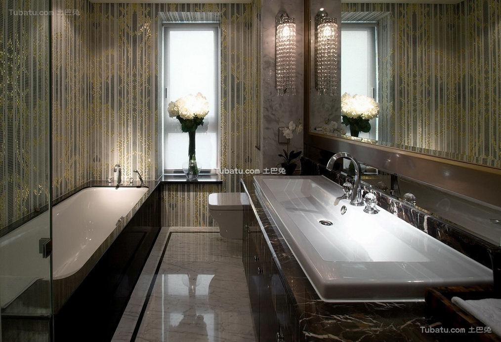 富丽堂皇的欧式家装卫生间效果图