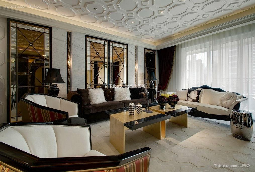 富丽堂皇的欧式家装客厅效果图