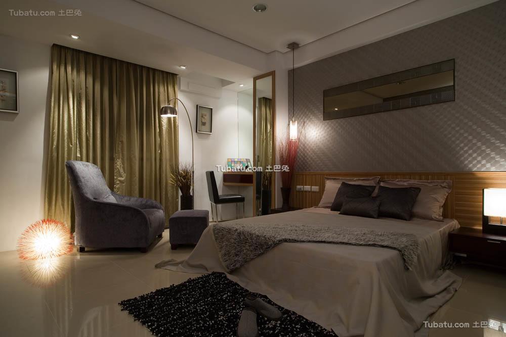 温馨一居室家装卧室效果图