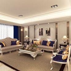 复古欧式风格家装沙发背景墙效果图