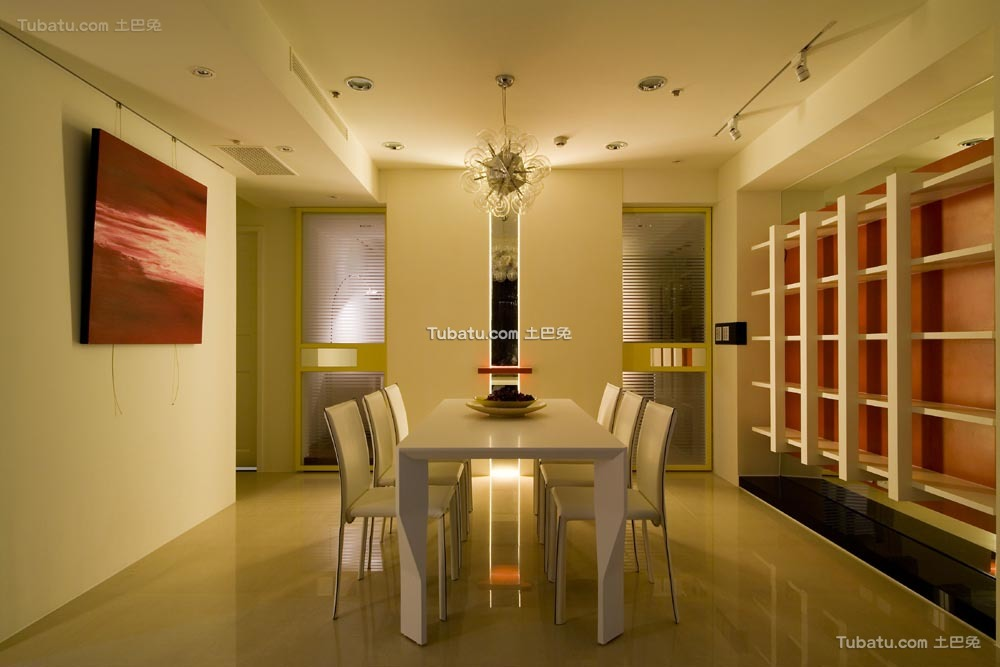 温馨一居室家装餐厅图