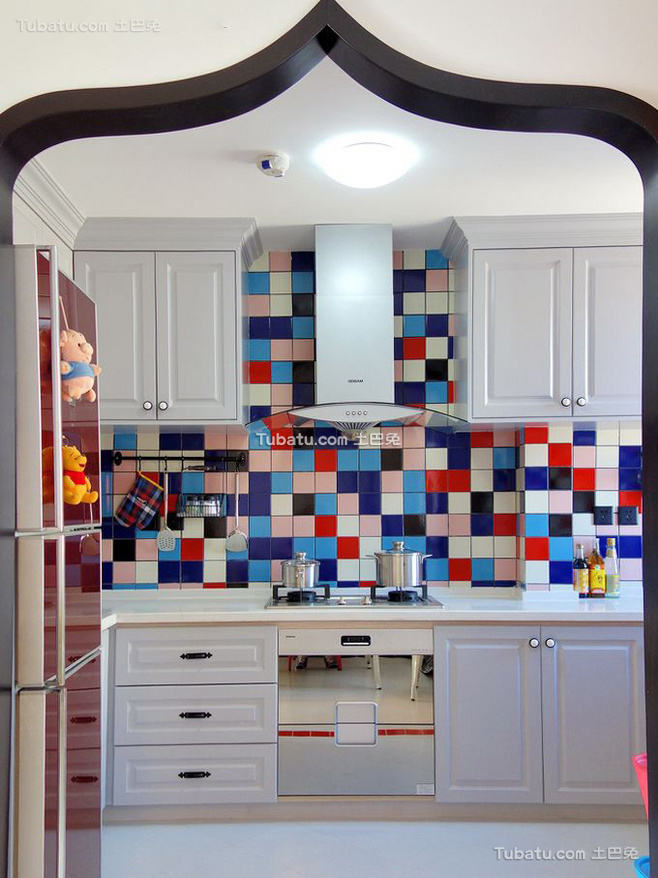 清新地中海风格家装厨房效果图