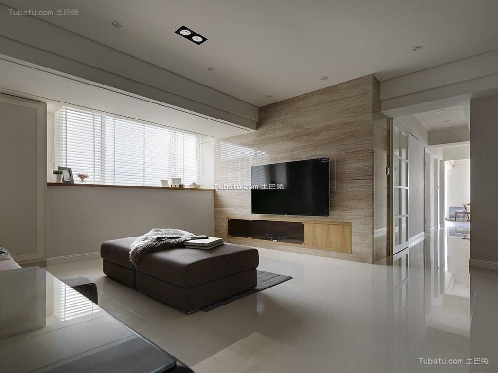 温暖三居室家装客厅效果图