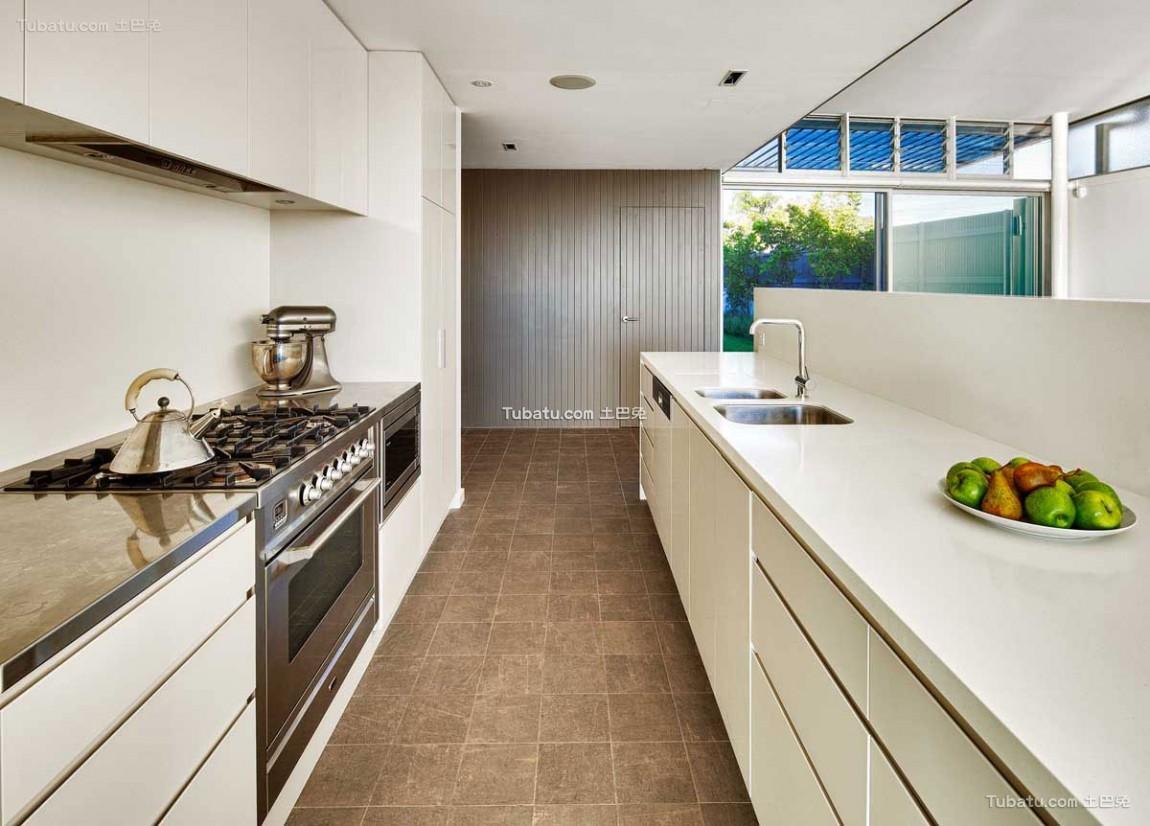 浅色调的简约风格家装厨房效果图