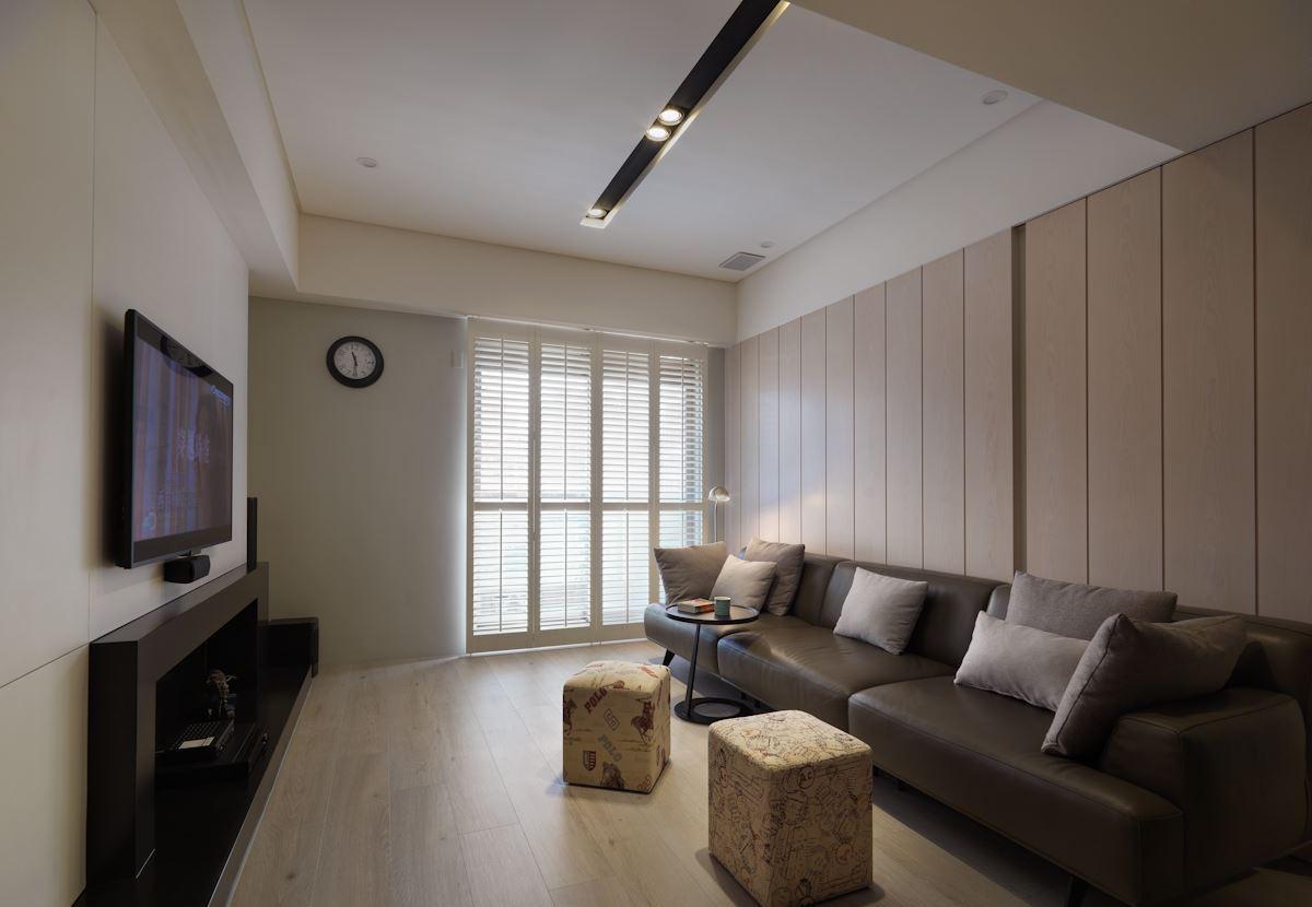 自然美式风格家装沙发背景墙效果图片
