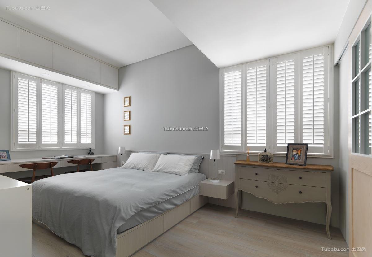 自然美式风格家装卧室效果图片