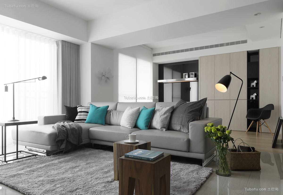明透的美式风格家装客厅效果图