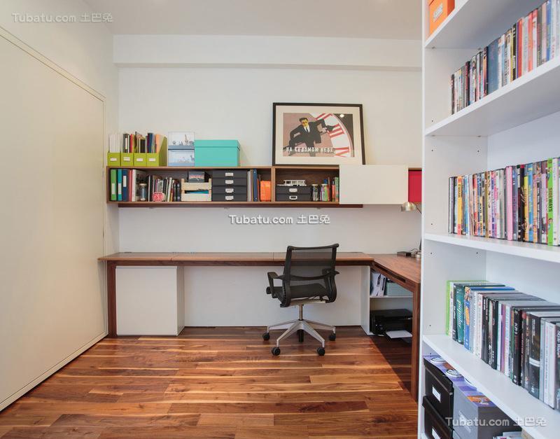 潮流简欧风格家装书房效果图