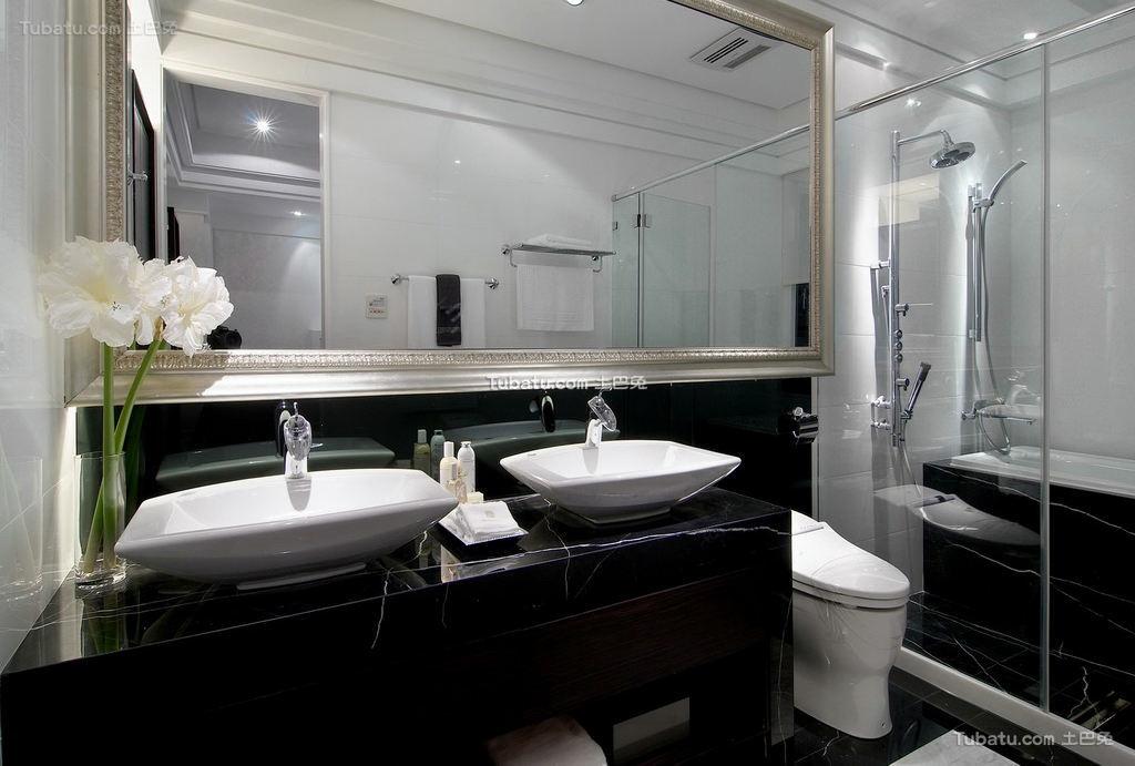 豪华富丽的欧式风格家装卫生间效果图