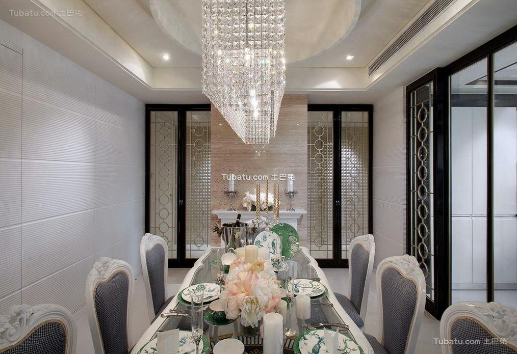 豪华富丽的欧式风格家装餐厅图