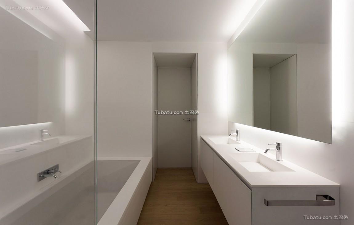单一简约风格家装卫生间效果图