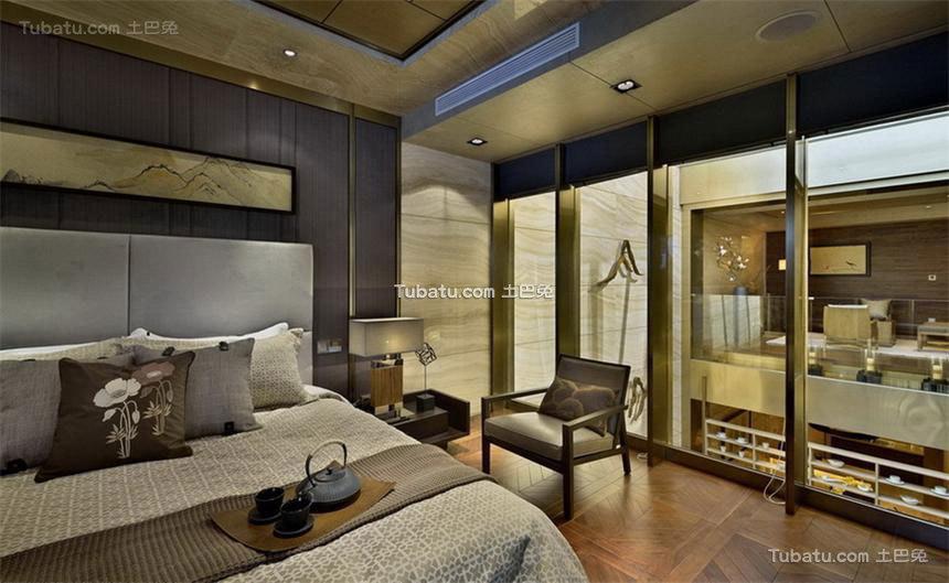 融入中国文化思想的中式风格卧室效果图