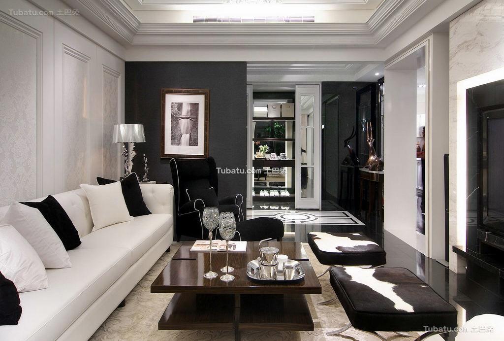 豪华富丽的欧式风格家装客厅效果图
