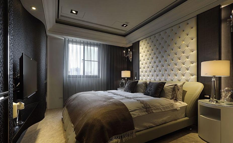 温婉的欧式风格家装卧室效果图