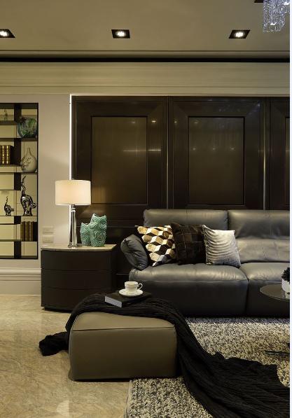 温婉的欧式风格家装沙发背景墙效果图