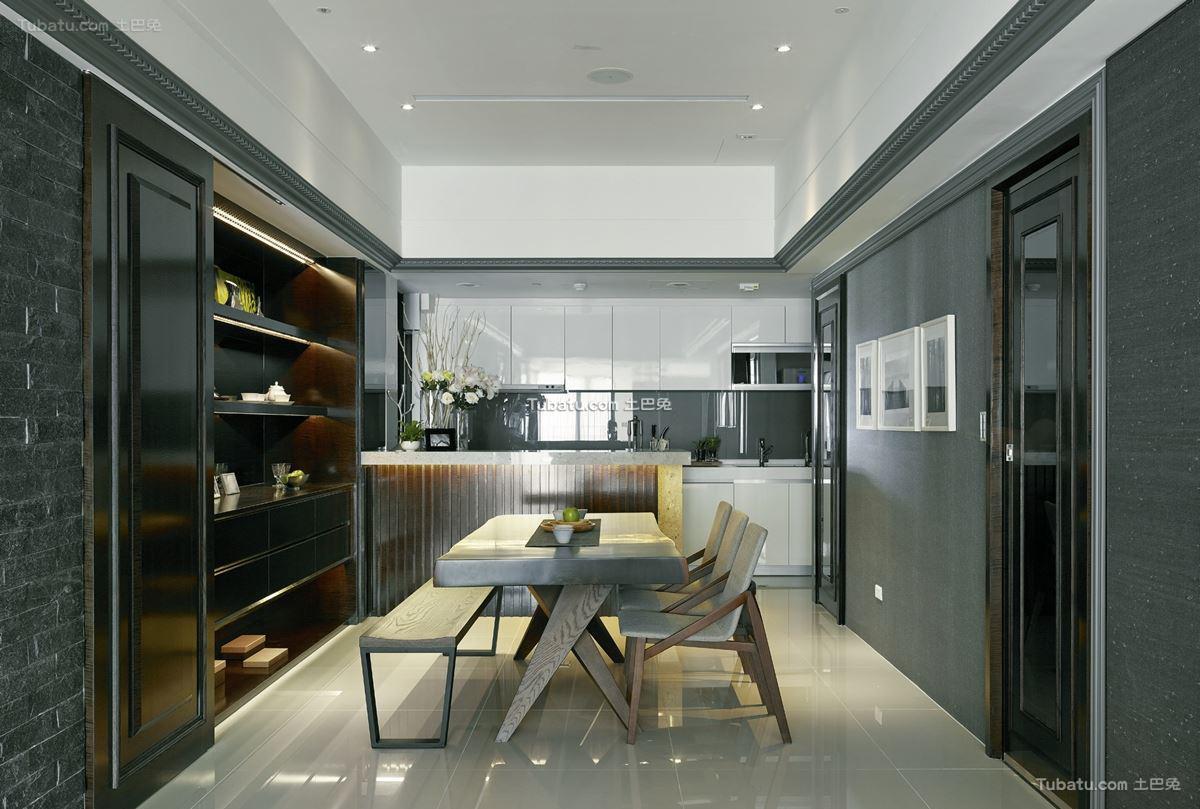 前卫美式风格家装餐厅图