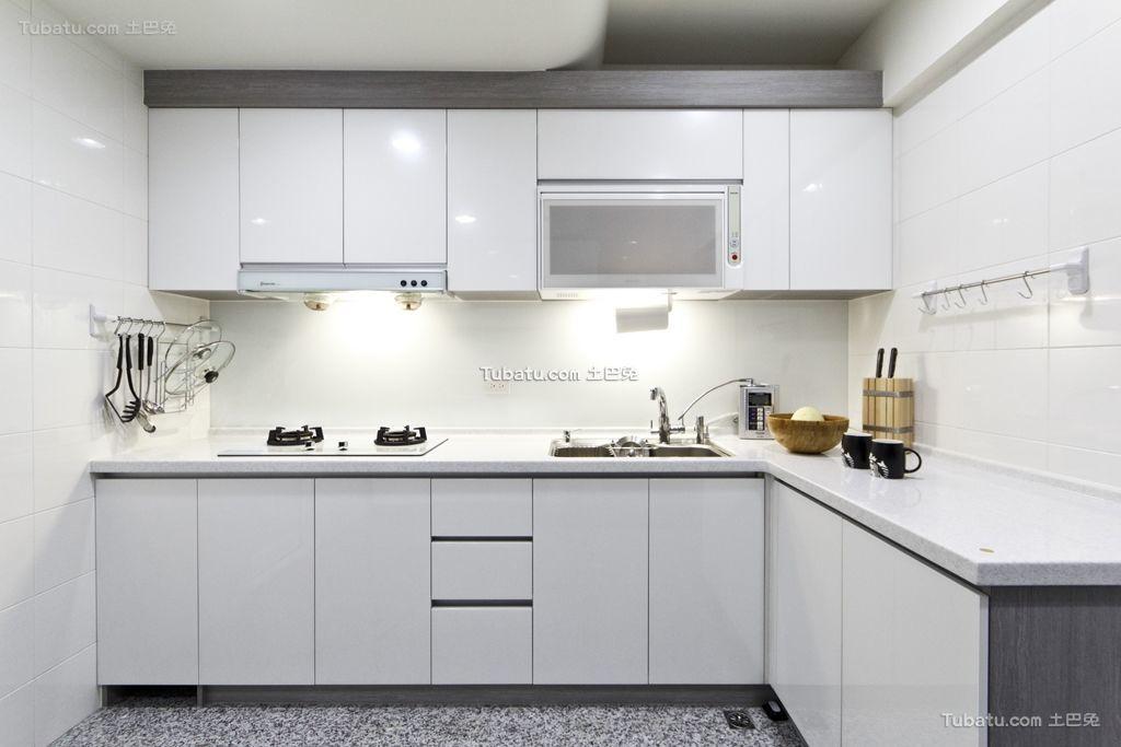 素静北欧厨房家装效果图