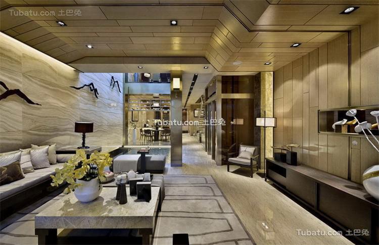 融入中国文化思想的中式风格客厅效果图