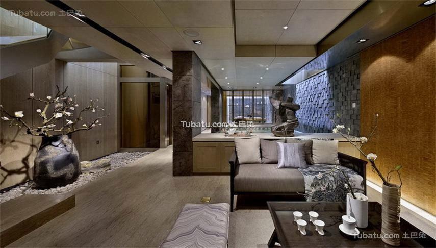 融入中国文化思想的中式风格客厅效果图片