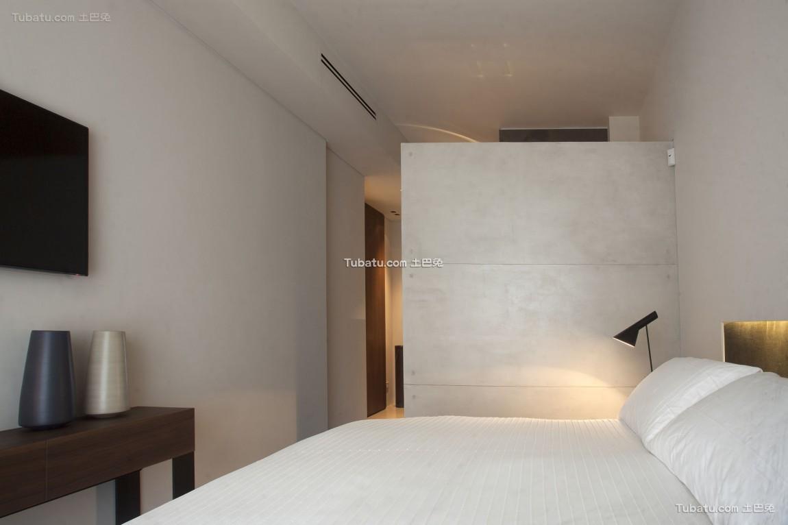 时尚黑白简约风格家装卧室效果图