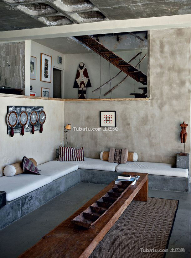 古朴质感的美式风格家装客厅效果图片
