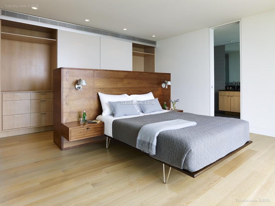 现代清晖复式楼家装卧室效果图